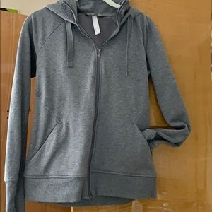 Athleta gray zipper hoodie size Small